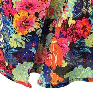 🔥BOGO🔥Mileage Sleeveless Tropical Floral Shell